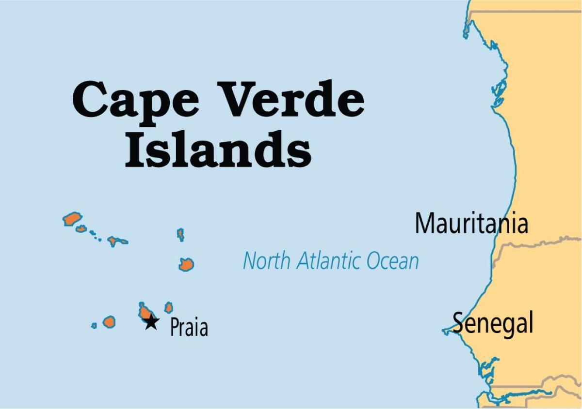 Cabo Verde-Inseln-Karte - Karte der Inseln von Kap Verde-Afrika (das on