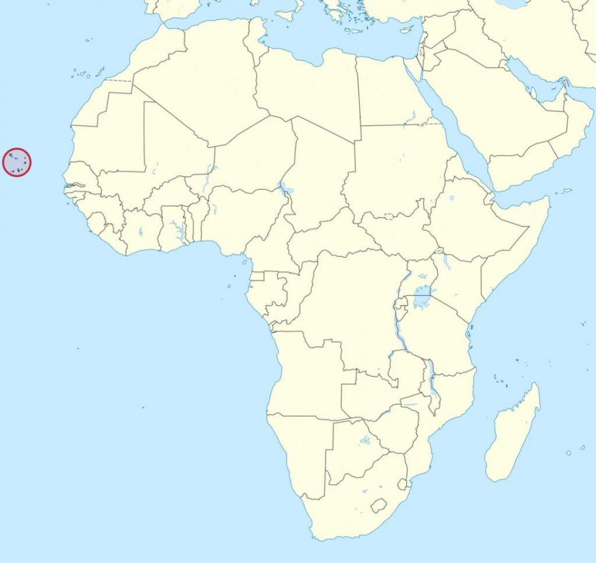 Karte Afrika.Kap Verde Karte Afrika Cabo Verde Afrika Karte West Afrika